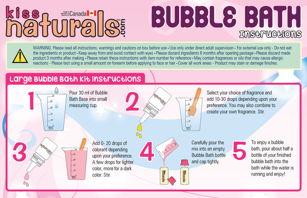 DIY Bubble Bath Instructions