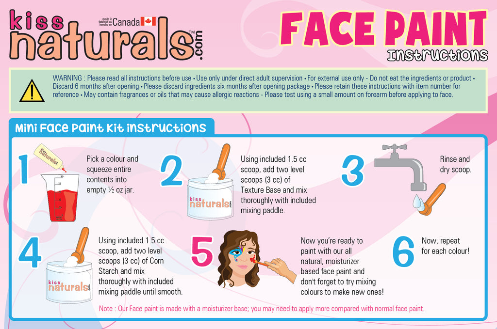 DIY Mini Face Paint Kit Instructions