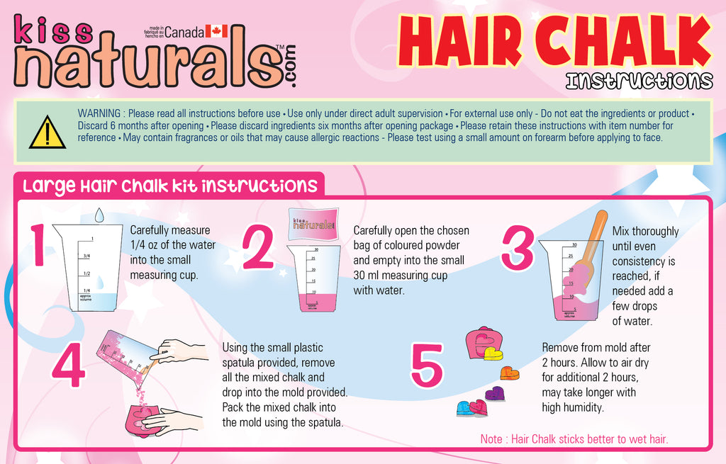 DIY Hair Chalk Instructions