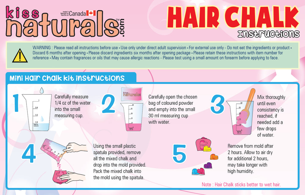 DIY Mini Hair Chalk Instructions