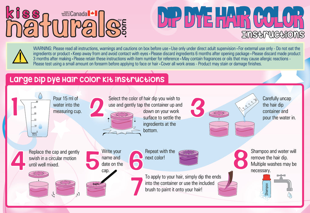 DIY Dip Dye Hair Kit