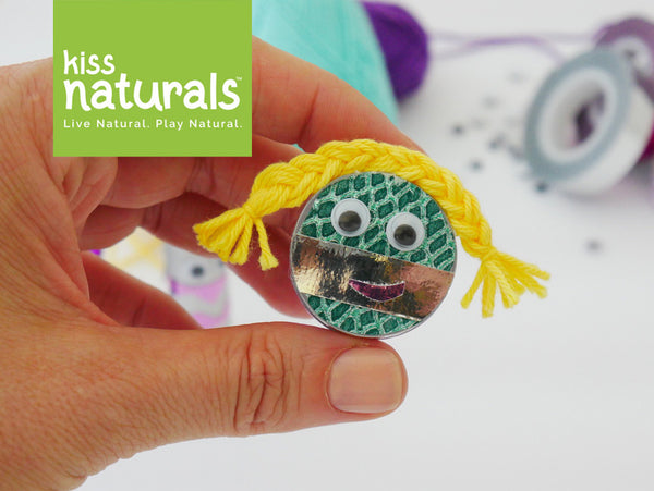 Little round lip balm container monster DIY from Kiss Naturals