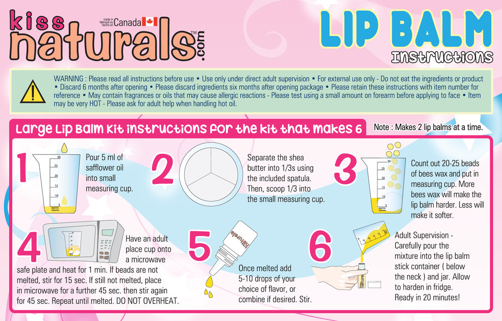 DIY Lip Balm Instructions
