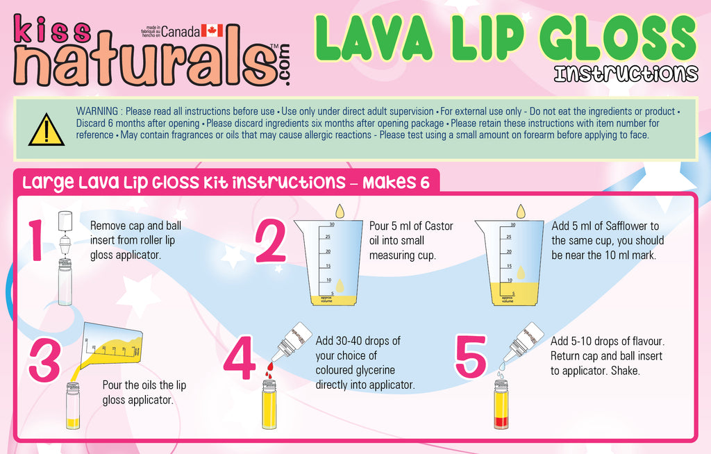 DIY Lava lip gloss instructions