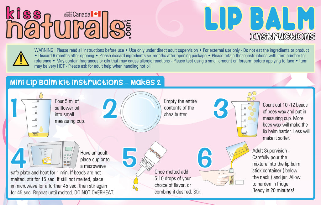 DIY Mini Lip Balm Instructions