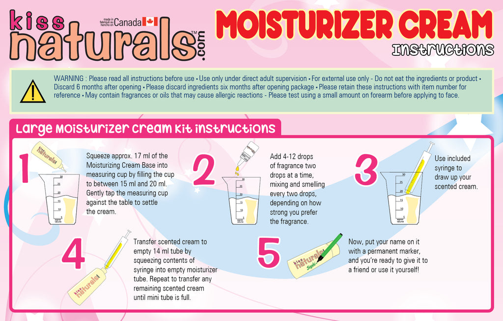 DIY Moisturizer Cream Instructions