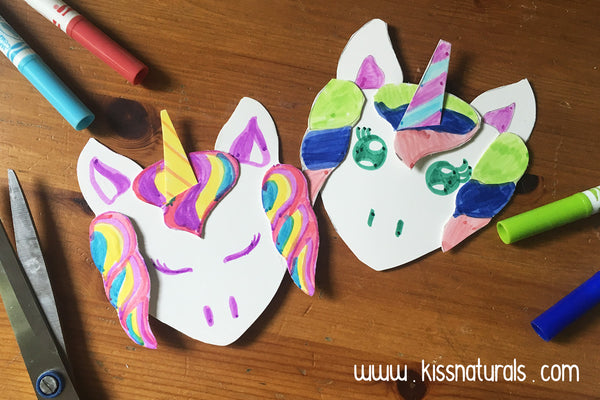 DIY upcycled unicorn page markers from Kiss Naturals Tutorial Blog