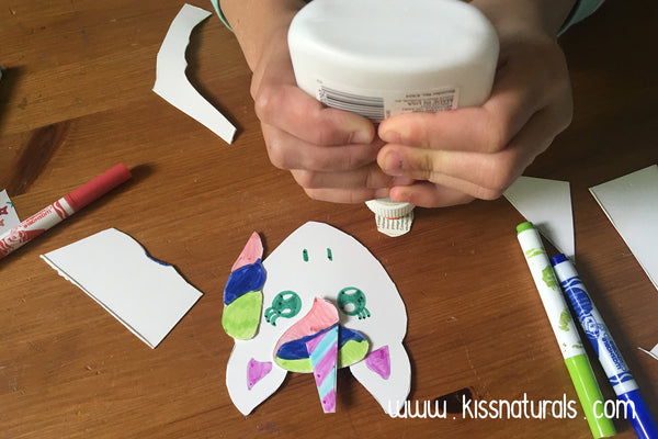 Gluing the main to the unicorn bookmark - DIY tutorial