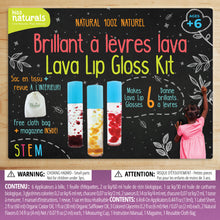 Load image into Gallery viewer, Lava Lip Gloss Kit, 100% natural. Comes with reusable bag and furoshiki cloth. Makes 6 lava lip glosses.