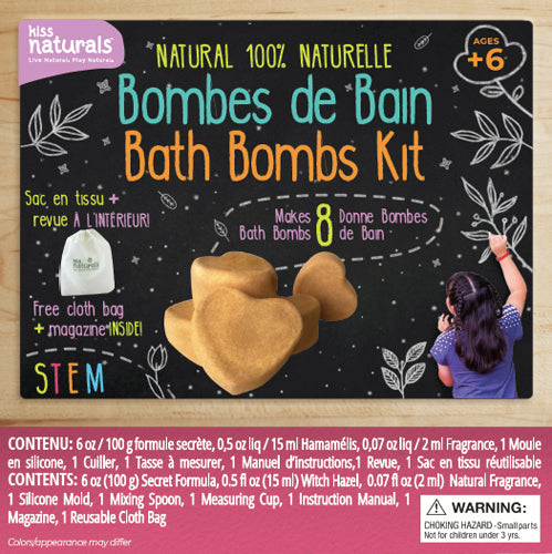 Wholesale Bath Bomb Kit, 100% Natural. Comes with reusable bag and furoshiki cloth. Makes 8 bath bombs.