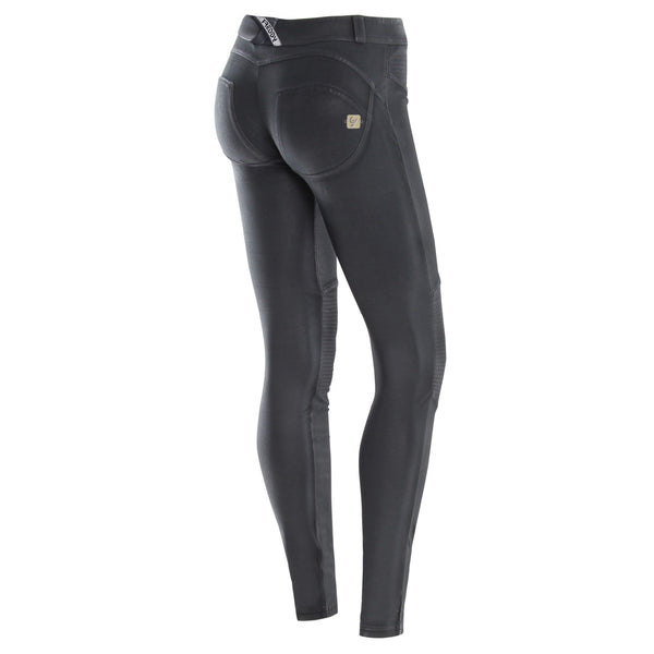 WR.UP® Low Waist Coated Biker Mørkegrå (G59)
