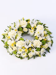 Classic Wreath - Yellow & Cream
