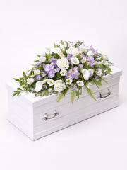 Children's Casket Spray - Blue & Lilac