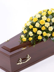 Rose and Carnation Casket Spray - Yellow