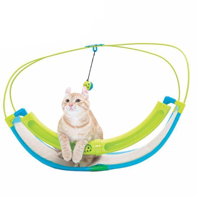 2 In 1 Exercise Cradle Bed Sofa with Ball Toys Hammock Cat Toy Cat Beds & Baskets Pet Clever