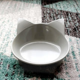 2pcs Cat Ears Shaped Feeder Bowl Dog Bowls & Feeders Pet Clever