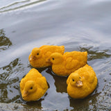 2pcs Simulated Resin Yellow Ducks Fish Pond Decoration Fish Pond Decorations Pet Clever