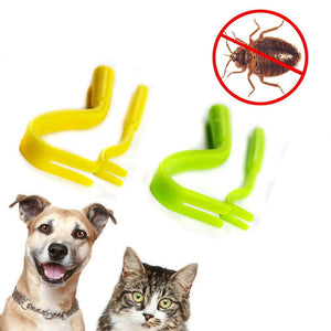 2pcs Tick Twister Remover Hook Tweezer Pet Clever