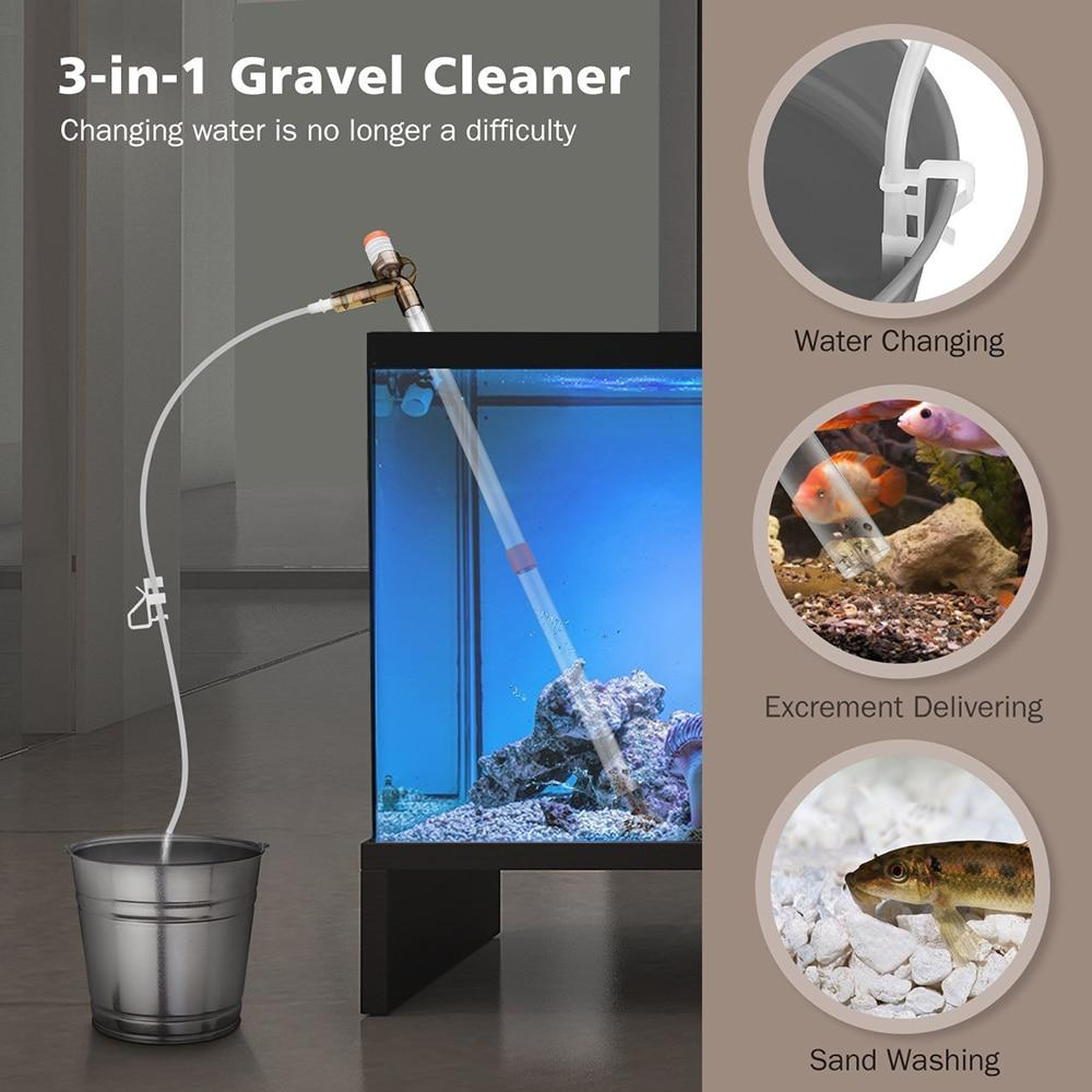 3-in-1 Multi-functional Gravel Cleaner and Water Changer Aquarium Water Changer Pet Clever