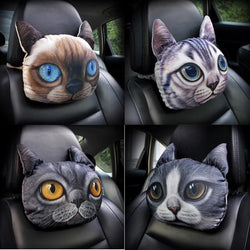 3D Car Head Neck Cushion Cat Pillow