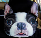 3D Car Head Neck Cushion Dog Pillow Dog Design Accessories Pet Clever Model 3