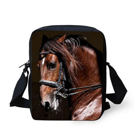 3D Crossbody Horse Printing Shoulder Bag Horse Design Bags Pet Clever 1