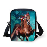 3D Crossbody Horse Printing Shoulder Bag Horse Design Bags Pet Clever 5