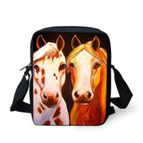 3D Crossbody Horse Printing Shoulder Bag Horse Design Bags Pet Clever 28