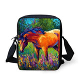3D Crossbody Horse Printing Shoulder Bag Horse Design Bags Pet Clever 25