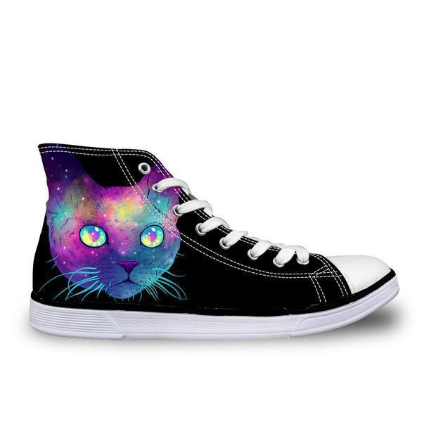 3D Cute Canvas Galaxy Cat Cat Design Footwear Pet Clever Galaxy Cat A