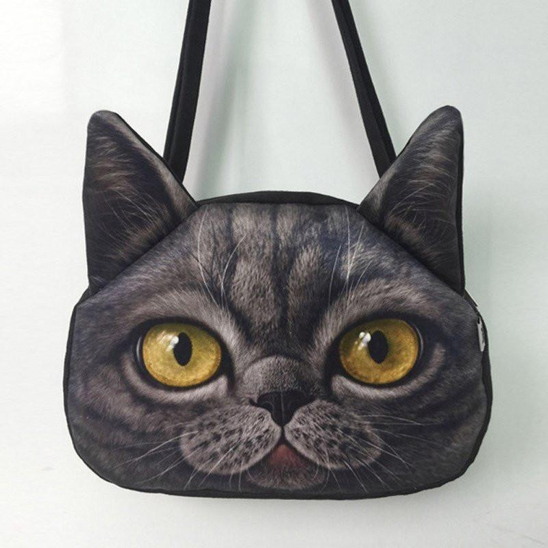 3D Frosted Cat Shaped Handbag Cat Design Bags Pet Clever 1