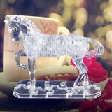 3D Horse Crystal Puzzle Other Pets Design Accessories Pet Clever Whie