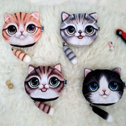3D Print Cats Coin Purse Wallet