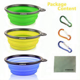 3Pcs Portable Pet Bowls Dog Bowls & Feeders Pet Clever