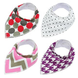 4pcs Adjustable Puppy Cat Bandana Collars Scarfs Pet Clever Purple