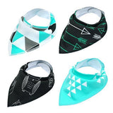 4pcs Adjustable Puppy Cat Bandana Collars Scarfs Pet Clever Black