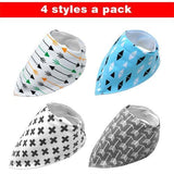 4pcs Adjustable Puppy Cat Bandana Collars Scarfs Pet Clever Blue