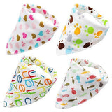 4pcs Adjustable Puppy Cat Bandana Collars Scarfs Pet Clever Printed
