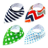 4pcs Adjustable Puppy Cat Bandana Collars Scarfs Pet Clever Green