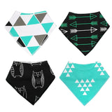 4pcs Adjustable Puppy Cat Bandana Collars Scarfs Pet Clever