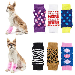 4Pcs Non-slip Pet Leg Warmers