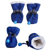 4pcs Pet Dog Anti-Skid Rain Shoes Dog Clothing Pet Clever Blue XS
