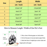 4pcs Pet Dog Anti-Skid Rain Shoes Dog Clothing Pet Clever