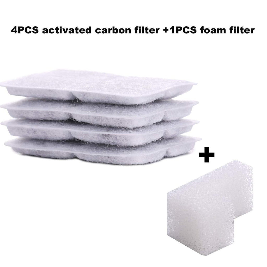 5PCs Filters For Pet Clever Drinking Fountain Cat Bowls & Fountains Pet Clever 5Pcs Replacement Filters