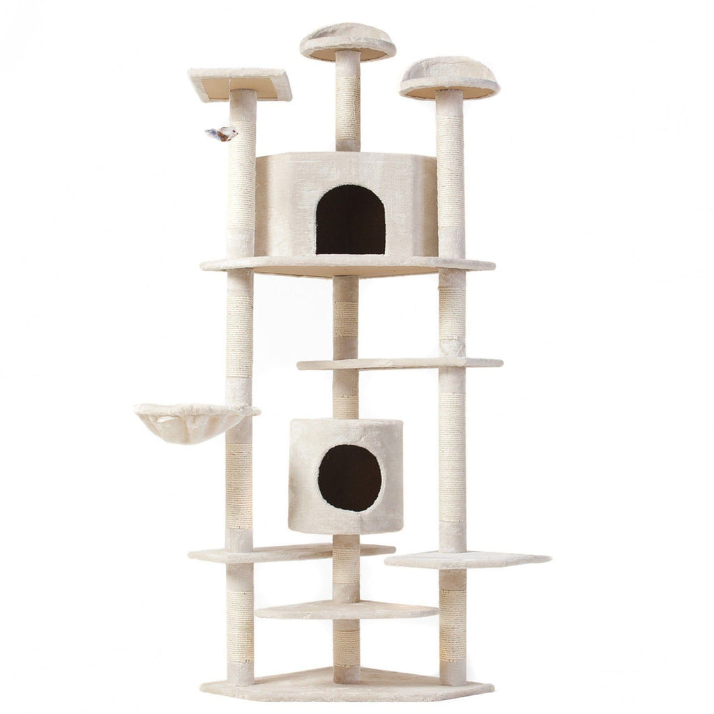 80 inch Cat Tree Tower Condo Furniture Scratch Post House Cat Trees & Scratching Posts Pet Clever