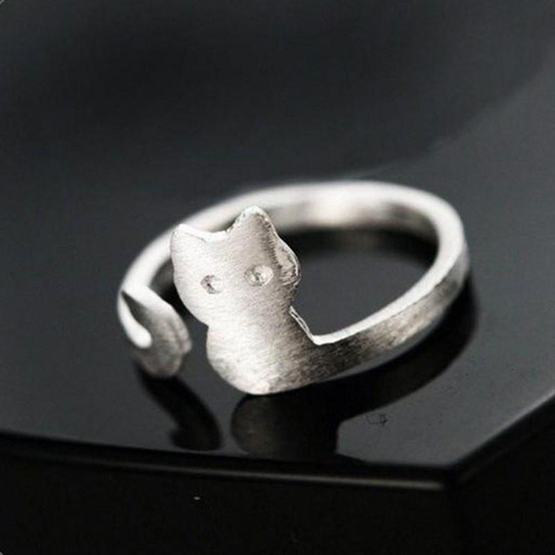 925 Silver Cat Body Ring Cat Design Jewelry Pet Clever
