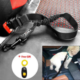 Adjustable Dog Car Safety Seat Belt Harness Leads with Elastic Bungee Leash Dog Carrier & Travel Pet Clever