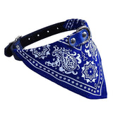 Adjustable Pet Collar Bandana - 5 Colors Cat Care & Grooming Pet Clever Blue S