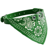 Adjustable Pet Collar Bandana - 5 Colors Cat Care & Grooming Pet Clever Green S