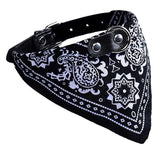 Adjustable Pet Collar Bandana - 5 Colors Cat Care & Grooming Pet Clever Black S
